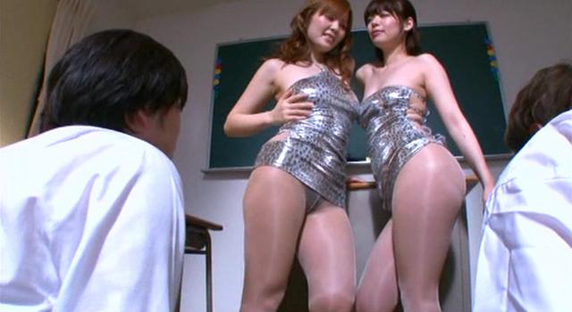 エロ動画、ボディコン先生、目隠しレッスン Ver.ふたり責め 水城奈緒 有沢りさの表紙画像