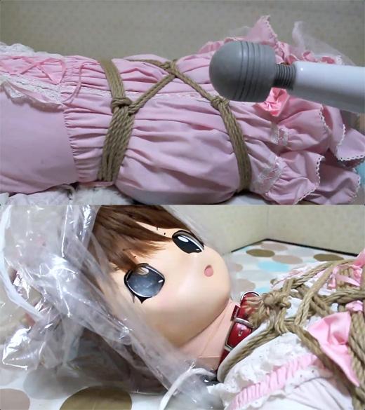 【着ぐるみ】三毛猫娘ビニール袋窒息責め【呼吸制御】