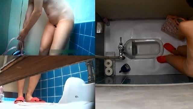 高画質ハイビジョントイレ盗撮 SC級プールトイレのスク水パイパン少女たち