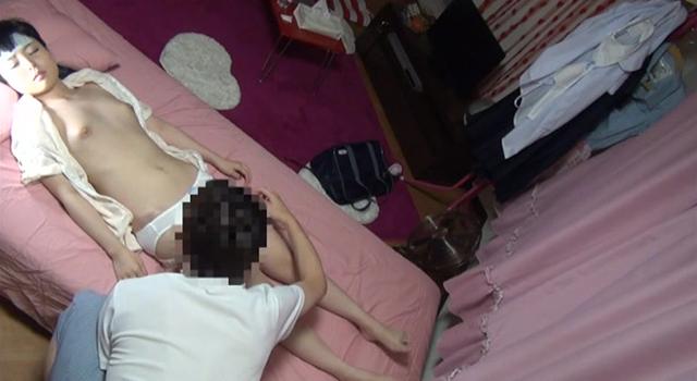 風邪で寝込んだ妹に風邪薬と称し睡眠薬を飲ませ眠姦連続中出しレイプする鬼畜兄の近親相姦投稿映像