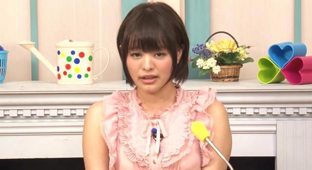 エロ動画、大量精子ごっくん20発!!淫語実況ロリ女子アナウンサー青山未来の表紙画像