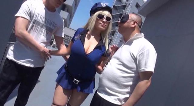 エロ動画、Iカップ爆乳コスプレイヤー淫交撮影の表紙画像