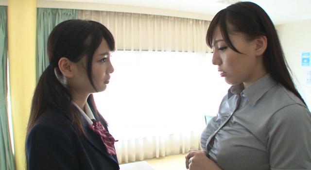 【エロ動画】求め愛 禁断のレズSEXの虜になったドS女子校生とドM女教師 跡美しゅり・江上しほのエロ画像1枚目