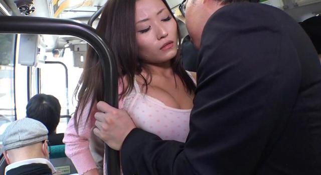 エロ動画、満員バスで買い物帰りの人妻のカラダが密着してくるもんで僕ビンビン!思わず痴漢しちゃったけど興奮してる奥さんは拒むことを知らないの表紙画像