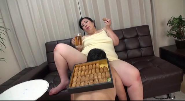 過積載の女 藤木静子50歳 体重91.2kg デカ尻!デカ腹!豊満熟女の圧迫遊戯!