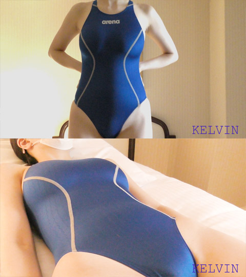 [FHD 60fps]おのの●か似EカップJDに競泳水着を着せてみた