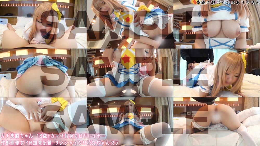 ガチ洗脳ちゃん 18歳Fカップ低身長ロリレイヤー性処理便女ドM調教記録 サンシャイン!!花丸ちゃんヅラ