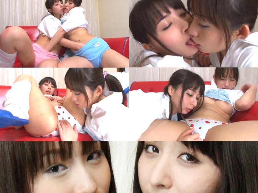 美少女レズ行為中にザーメン17連続大ぶっかけ!