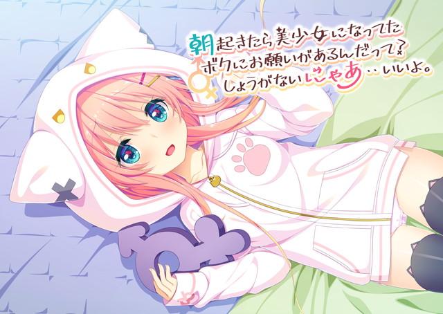 朝起きたら美少女になってたボクにお願いがあるんだって?しょうがないにゃあ・・いいよ。のタイトル画像