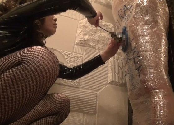 マミフィケーション拘束での尿道責め・CBT のタイトル画像